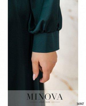 Платье №3272СБ-темно-зеленый