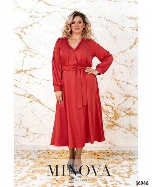 Платье №3272СБ-красный