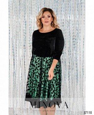 Платье №481СБ-зеленый