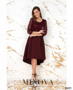 Платье №8619-бордо