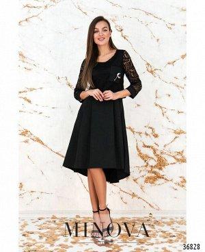 Платье №8619-черный