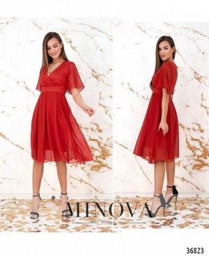 Платье №506Н-красный
