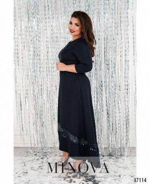 Платье №403-синий