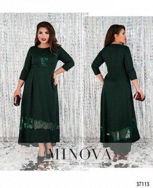 Платье №403-зеленый