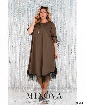 Платье №3285СБ-шоколад