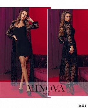 Платье №735Н-черный