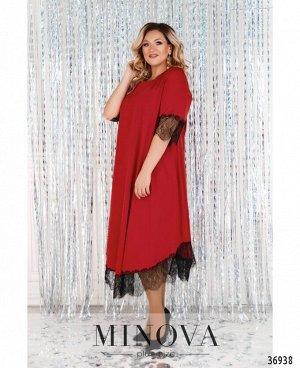 Платье №3285СБ-красный