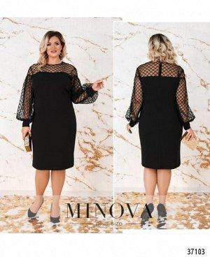 Платье №4137-1СБ-черный