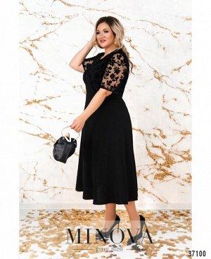Платье №4139-1СБ-черный