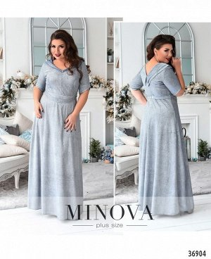 Платье №18-064-серебро