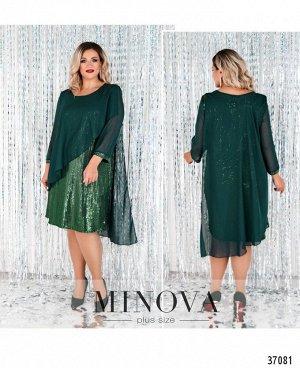 Платье №755-1СБ-темно-зеленый