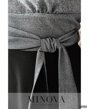 Платье №19-43-серебро