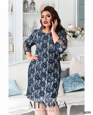 Платье №19-44-синий
