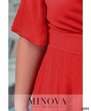 Платье №506А-красный