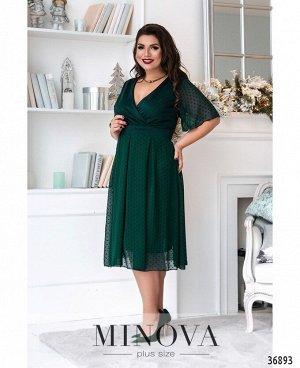 Платье №506А-зеленый
