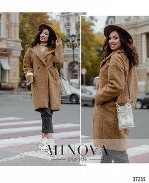 Пальто №991-коричневый