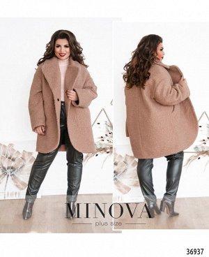 Пальто №3283-пудра