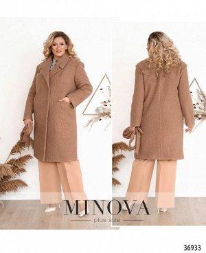 Пальто №3282-пудра
