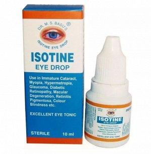 Глазные капли 100% натуральное средство при различных заболеваниях глаз Айсотин Isotine 10 мл.