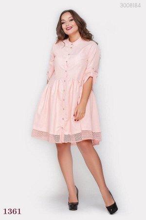 Розовое нарядное платье большого размера Тиф фани-1  (розовый)