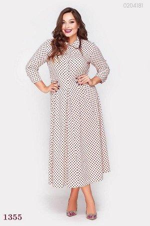 Платье в горошек Нара-1  (персиковый)
