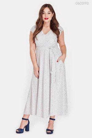 Приталенное платье Павия  (серый)