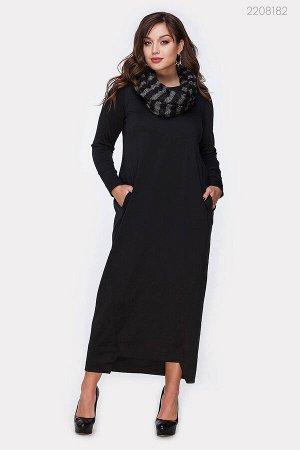 Платье с шарфом - хомут Хартум  (серый)