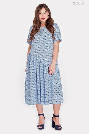 Голубое платье миди Калхида  (голубой)