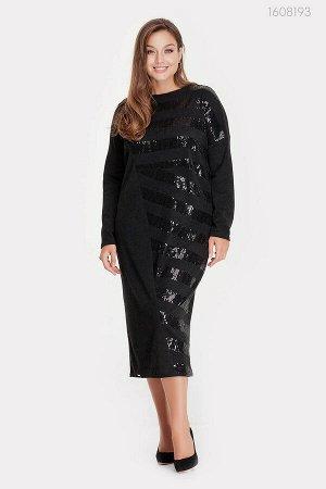 Черное платье макси Дения  (чёрный)