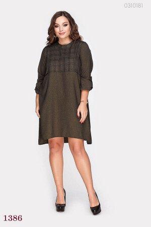 Оливковое свободное платье Тихуана  (оливковый)