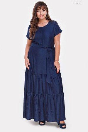 Длинное джинсовое платье Эскондидо  (синий)