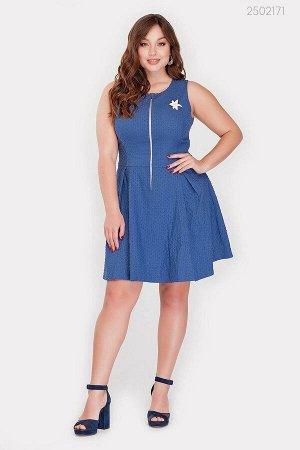 Короткое платье с брошью Фалмут  (голубой)