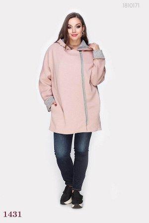 Пальто нежно- розового цвета Авиньон  (розовый)