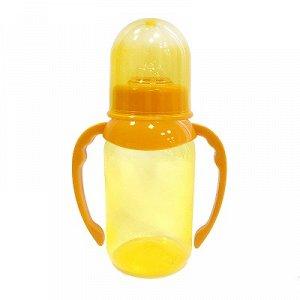 ПОМА Бутылочка для кормления с ручками 125мл., 1 шт. (ПП, силикон, средний поток) 4+ 4510