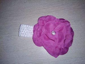 Повязка с цветочком