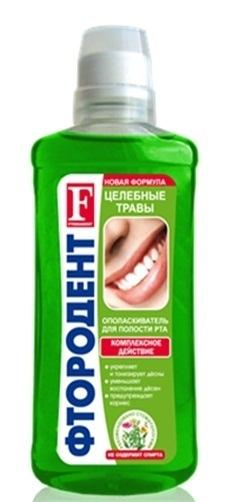 Фтородент Ополаскиватель д/полости рта Целебные травы (фл)  475мл