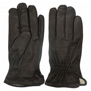 Перчатки Код товара: 45960 Артикул: 5-10.02.05-0005-01 Подкладка: трикотаж Модель: кожа натуральная Цвет: чёрный Фактура: гладкая Комплектация: перчатки 1 пара Состав: натуральная кожа