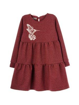 Платье 967А4 бордовый