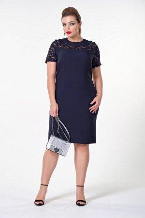 Платье Глория №1. Цвет:т.синий/пайетки