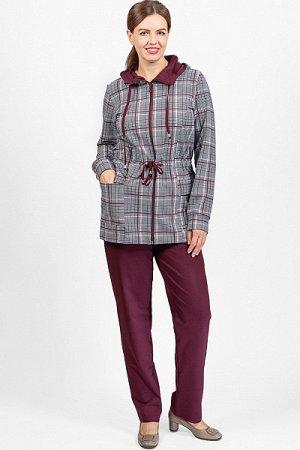 Костюм с брюками, футер 2-х нитка с лайкрой, бордо