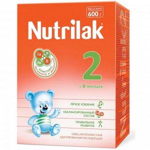 Нутрилак (Nutrilak) 2 смесь сухая молочная адап. последующая с 6 до 12 мес, 600 гр.