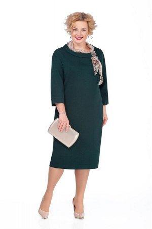 Платье Платье Pretty 974 изумруд  Состав ткани: Вискоза-20%; ПЭ-80%;  Рост: 164 см.  Платье из плательно-костюмной с небольшой растяжимостью. На переде обработаны нагрудные вытачки. Спинка со средним