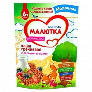 Малютка Каша молочная гречневая с лесными ягодами ДОЙ-ПАК 220г