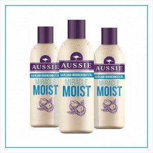 AUSSIE Бальзам-ополаскиватель Miracle Moist для сухих\поврежденных волос 200мл