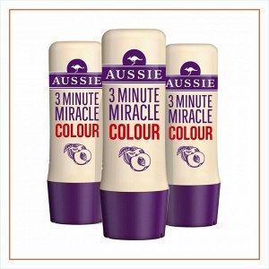 AUSSIE Средство интенсивного ухода 3 Minute Miracle Colour для окрашенных волос 250мл