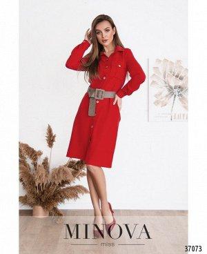 Платье №500Н-красный