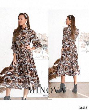Платье №3133-коричневый