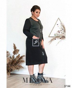Платье №00089-черный