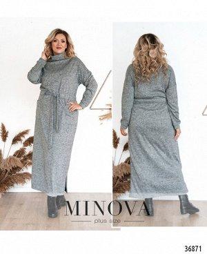 Платье №3292СБ-светло-серый