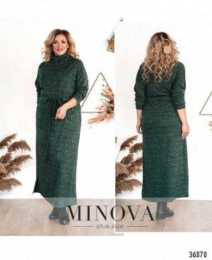 Платье №3292СБ-темно-зеленый